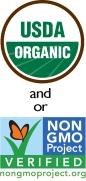 USDA Organic Non GMO Project vert