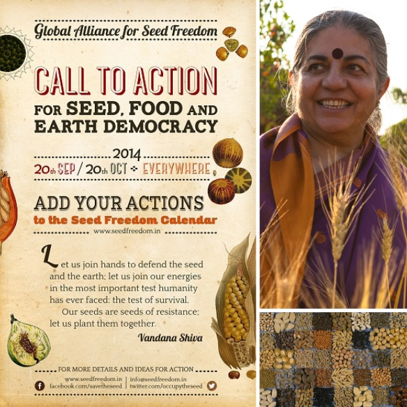 Vandana Seed Food Earth Democracy Month